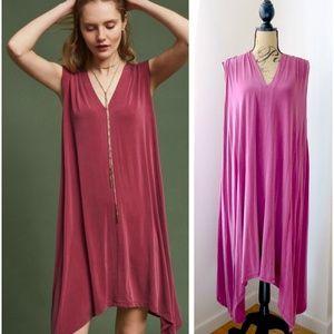 Eri + Ali Anthropologie Briella Mauve Tunic Dress